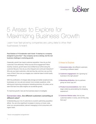 5 Areas to Explore for Maximizing Business Growth