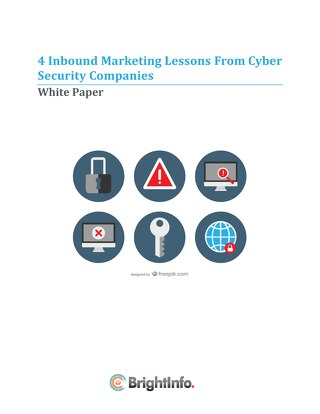 4 Inbound Marketing Lessons From Cyber Security Companies