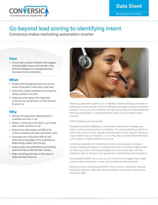 Leap from Lead Scoring to Identify Intent