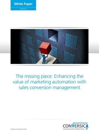 White Paper: The Missing Piece- Enhancing the Value of Marketing Automation with Sales Conversion Management