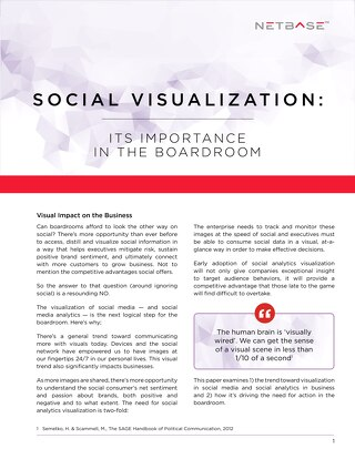 Social Visualization – Its Importance In The Boardroom