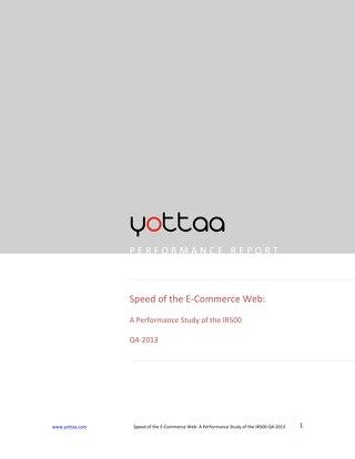 Speed of eCommerce Report 2013