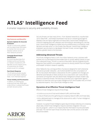 ATLAS Intelligence Feed Data Sheet