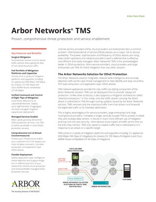Arbor Networks TMS Data Sheet