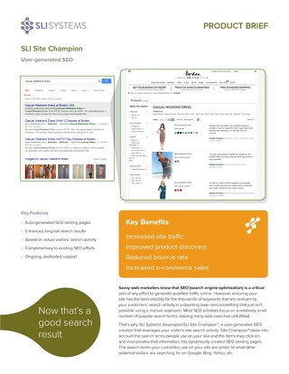 SLI Site Champion: User-generated SEO