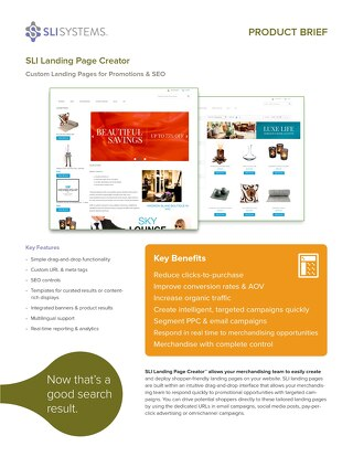 SLI Landing Page Creator: Custom Landing Pages for Promotions & SEO