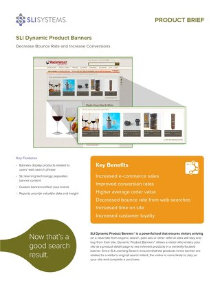 SLI Dynamic Product Banners: Decrease Bounce Rate and Increase Conversions