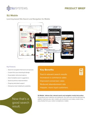 SLI Mobile: Learning-based Site Search and Navigation for Mobile