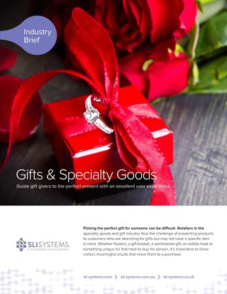 Gifts & Specialty Goods: Guide gift givers to the perfect present with an excellent user experience