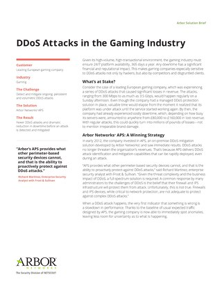 DDoS Attacks in the Gaming Industry