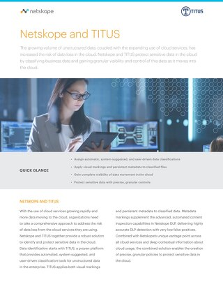 Netskope and TITUS