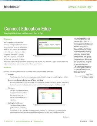 Connect Education Edge Datasheet