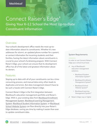 Connect Raiser's Edge