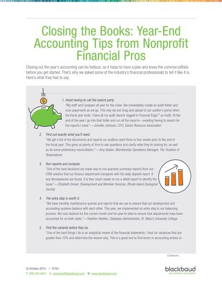 Closing the Books: Year-End Accounting Tips from Nonprofit Financial Pros