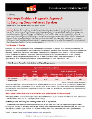 Netskope Enables a Pragmatic Approach to Securing Cloud-­delivered Services