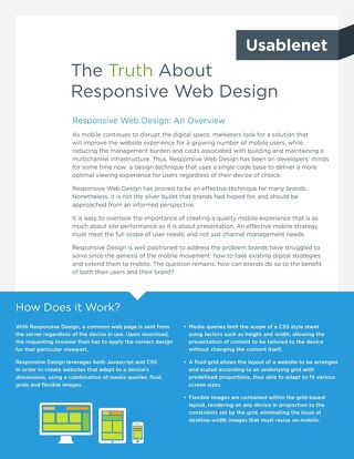 The Truth About Responsive Web Design | White Paper