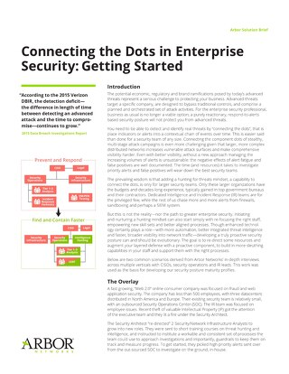 Connecting the Dots in Enterprise Security: Getting Started