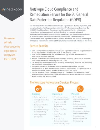 Netskope Cloud Compliance and Remediation Service for the EU General Data Protection Regulation (GDPR)