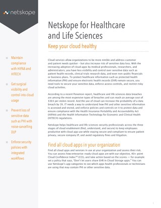 Netskope for Healthcare and Life Sciences