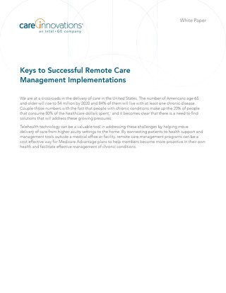 Keys to Successful Remote Care Management Implementations