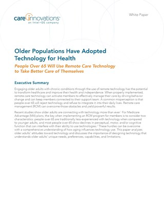Older Populations Have Adopted Technology for Health