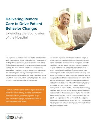 Delivering Remote Care to Drive Patient Behavior Change
