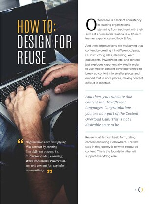 How To: Design for Reuse