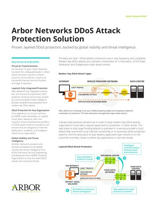 Arbor Networks DDoS Attack Protection Solution