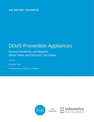 Infonetics Report: DDoS Prevention Appliances