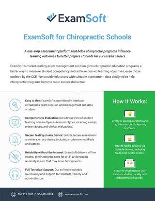 ExamSoft_ChiropracticSchool_OnePager