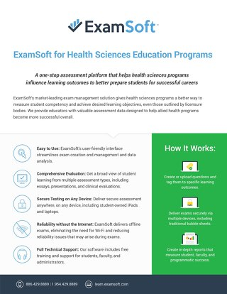 ExamSoft_AlliedHealth_OnePager