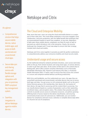Netskope and Citrix