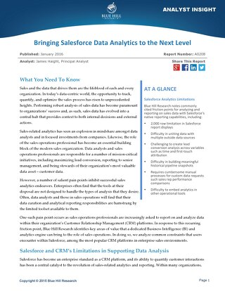 Bringing Salesforce Data Analytics to the Next Level - Blue Hill Research