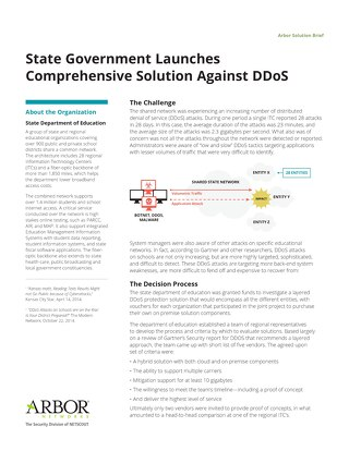 State Government Launches Comprehensive Solution Against DDoS