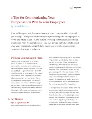 4 Tips for Communicating Your Compensation Plan to Employees