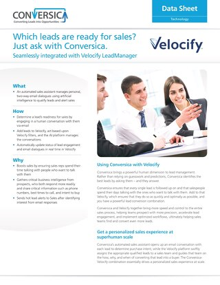 Velocify LeadManager Integration