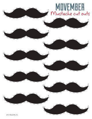 Movember Mustache Cut-Outs