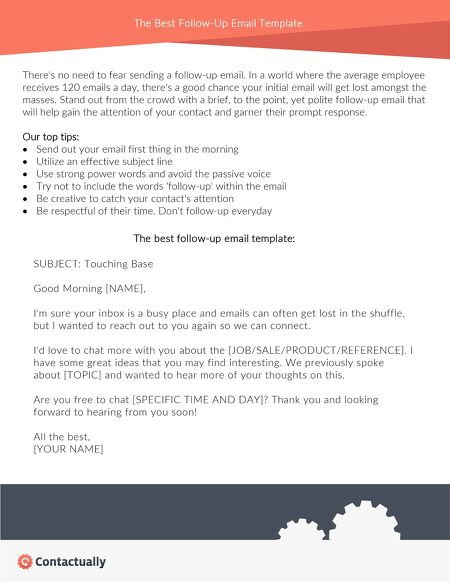 Download the best follow up email template contents of this issue pronofoot35fo Gallery