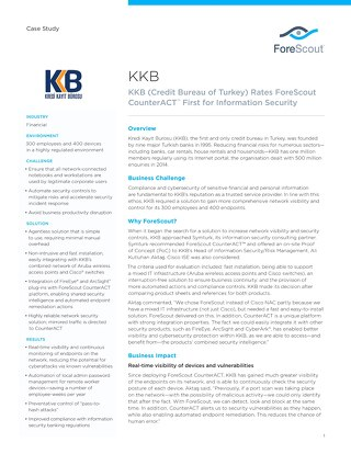 KKB ForeScout Case Study