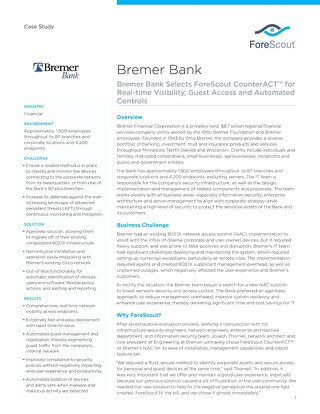 Bremer Bank Case Study