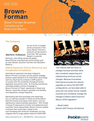 Brown-Forman case study