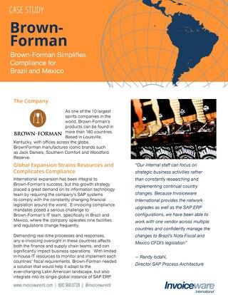 Brown-Forman case study