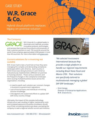 W.R. Grace case study