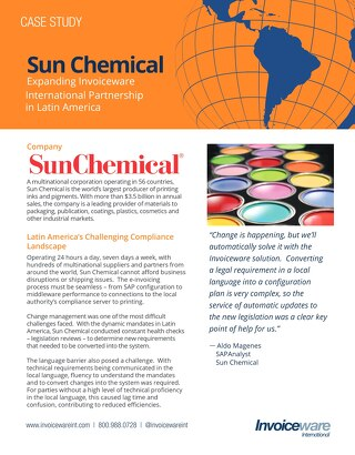Sun Chemical case study