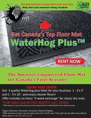 "Waterhog Plus - ""Canada's Greener Floor Mat"""
