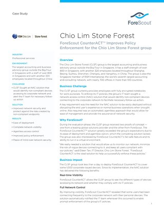 Chio Lim Stone Forest Case Study