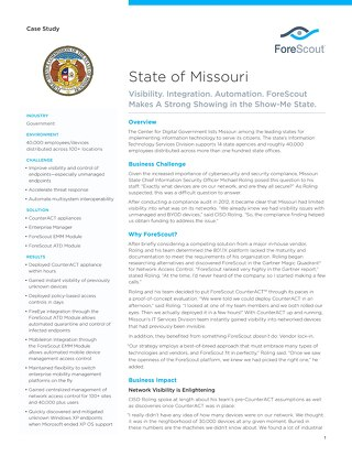 State of Missouri Case Study