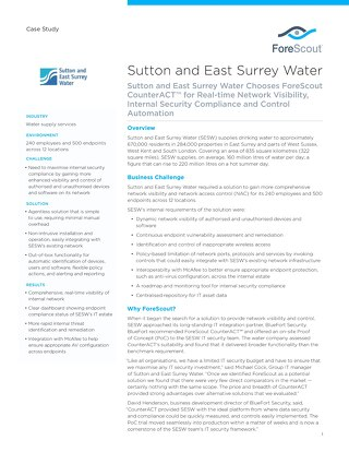 Sutton and East Surrey Water Case Study