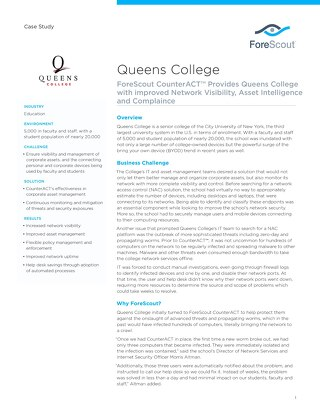 Queens College Case Study