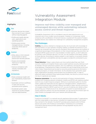 Vulnerability Assessment Integration Module Datasheet